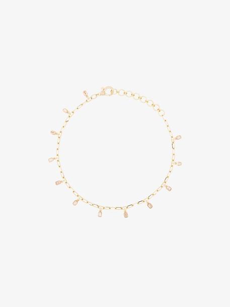 Shay 18K gold diamond pendant anklet