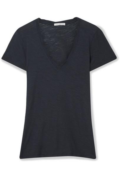 James Perse - Slub Supima Cotton-jersey T-shirt - Midnight blue