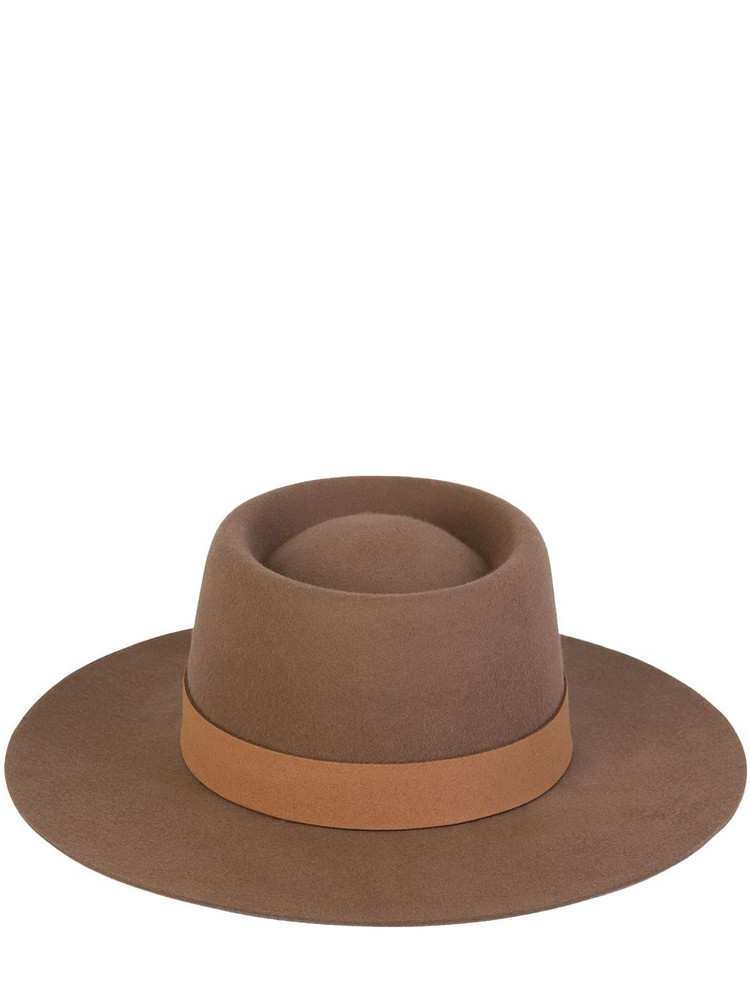 LACK OF COLOR Mirage Australian Wool Fedora Hat in brown