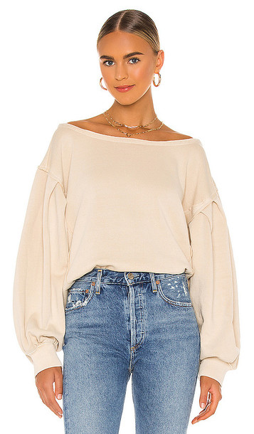 Free People Rosey Pullover in Cream in sand