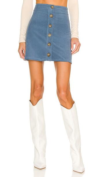 BCBGeneration Corduroy Mini Skirt in Blue
