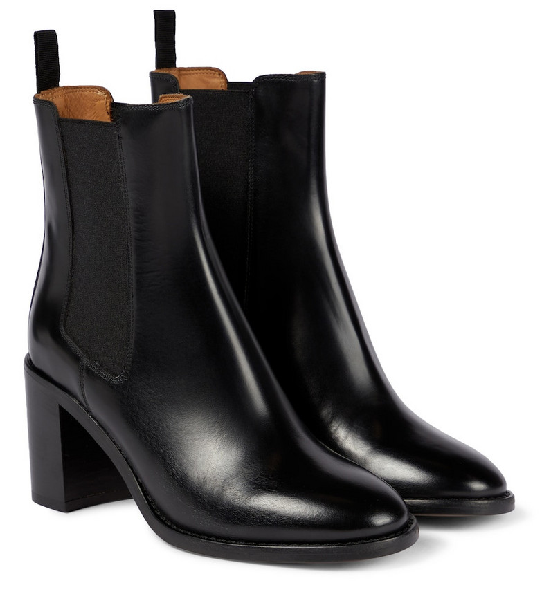Isabel Marant Lanide leather Chelsea boots in black