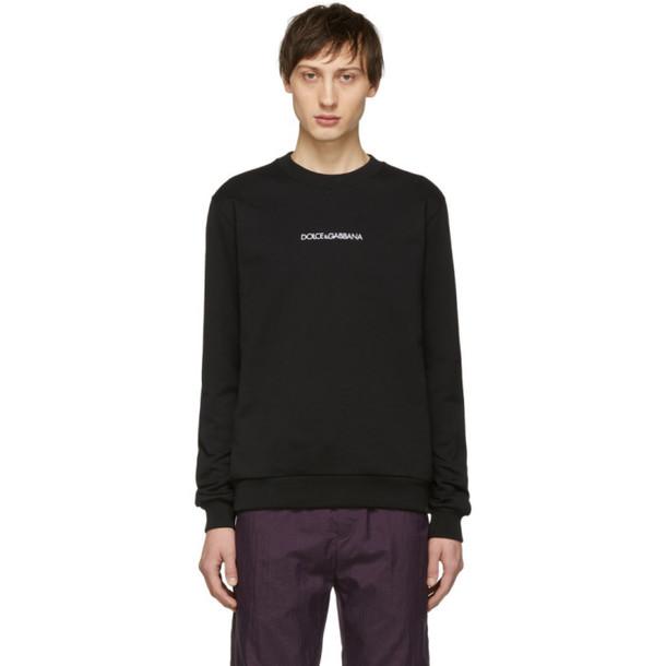 Dolce and Gabbana Dolce & Gabbana Black Embroidered Logo Sweatshirt
