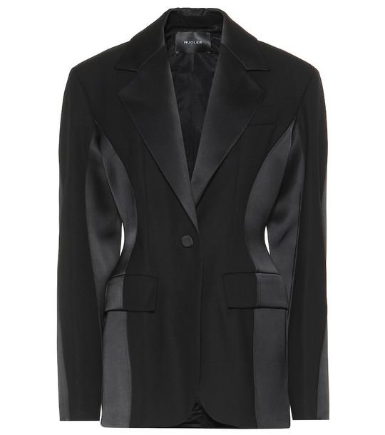 Mugler Wool blazer in black
