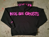 sweater,kanye west hoodie,kids see ghosts hoodie,kids see ghosts tour