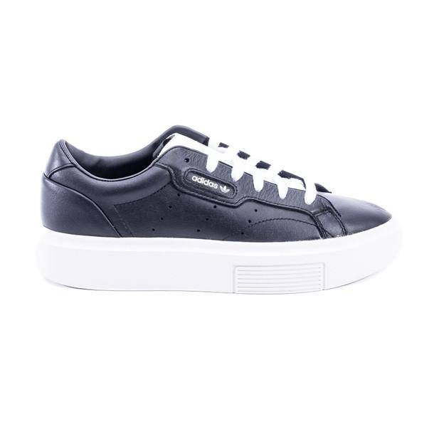 Adidas Sleek Super Leather Sneakers in black