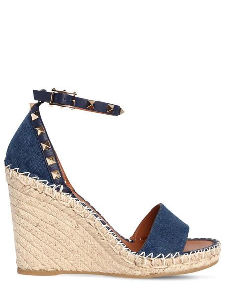 denim wedges shoes