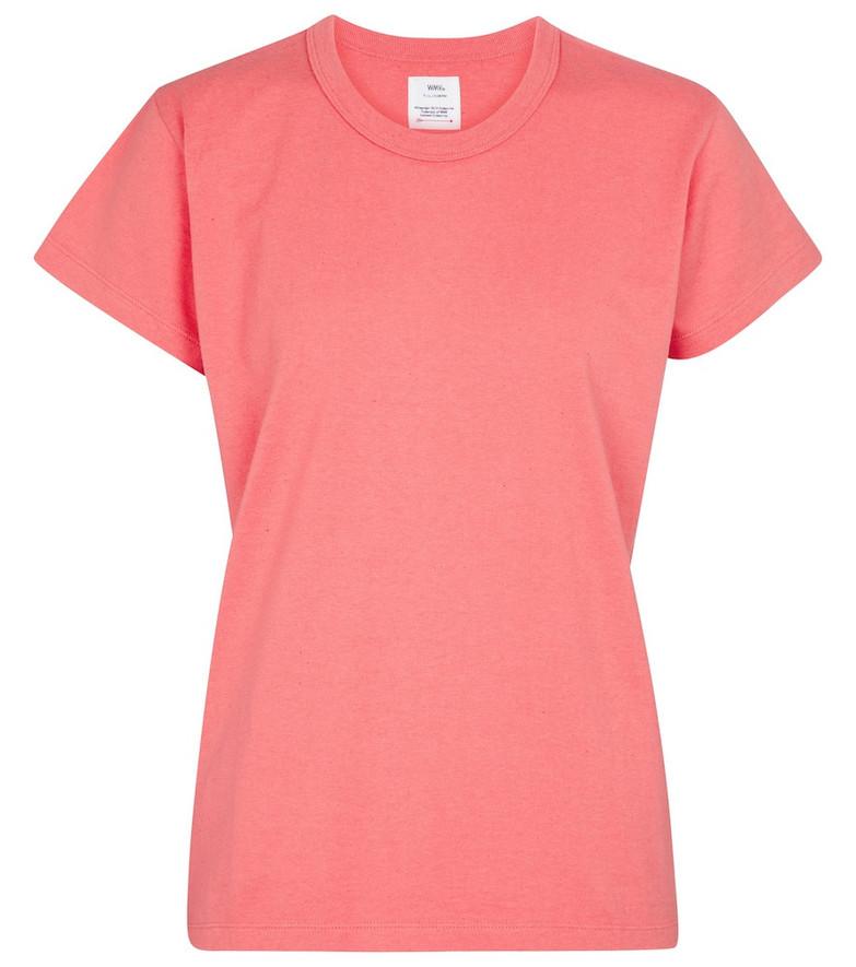 VISVIM Cotton jersey T-shirt in pink