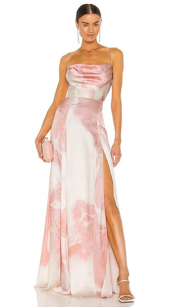 retrofete x REVOLVE Gracie Gown in Blush in peach