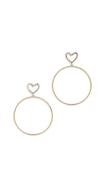 Luv Aj The Dotted Heart Hoop Earrings in gold