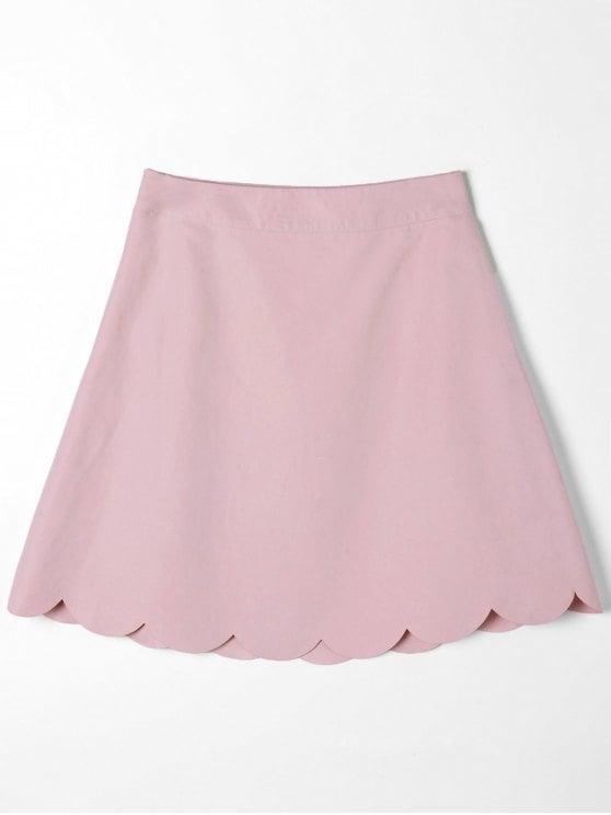 Mini Scalloped Edge Skirt
