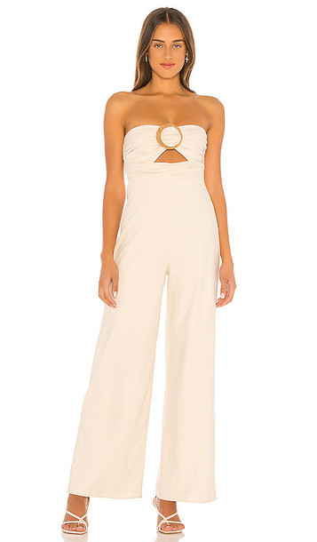 House of Harlow 1960 x REVOLVE Amma Jumpsuit in Beige