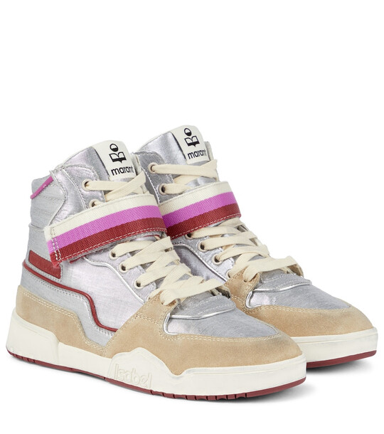 Isabel Marant Bresse suede-paneled sneakers
