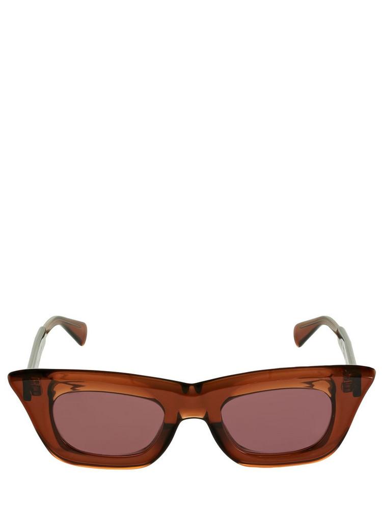KUBORAUM BERLIN C20 Squared Acetate Sunglasses in brown