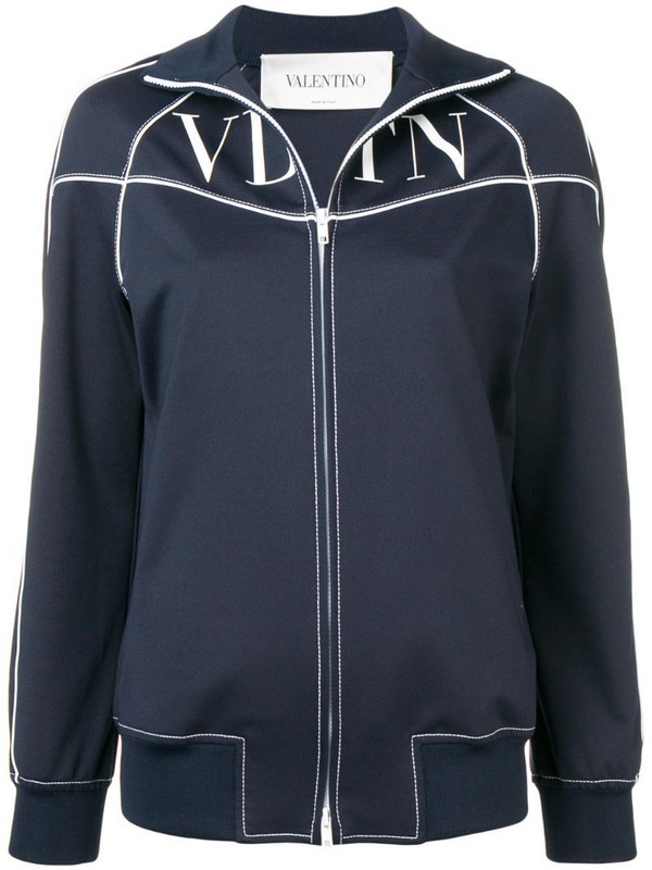 Valentino VLTN printed track jacket in blue