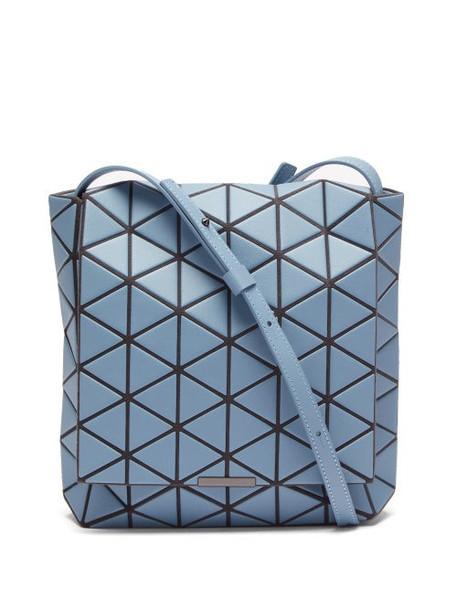 Bao Bao Issey Miyake - Flap Pvc Shoulder Bag - Womens - Light Blue