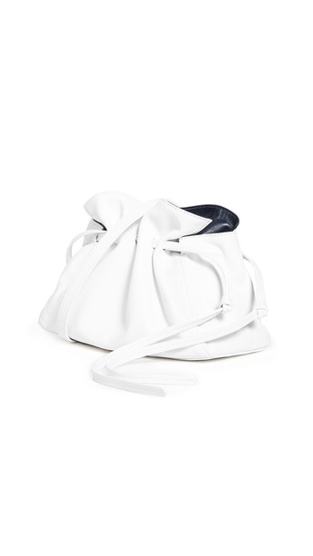 Mansur Gavriel Mini Protea Bag in blue / white