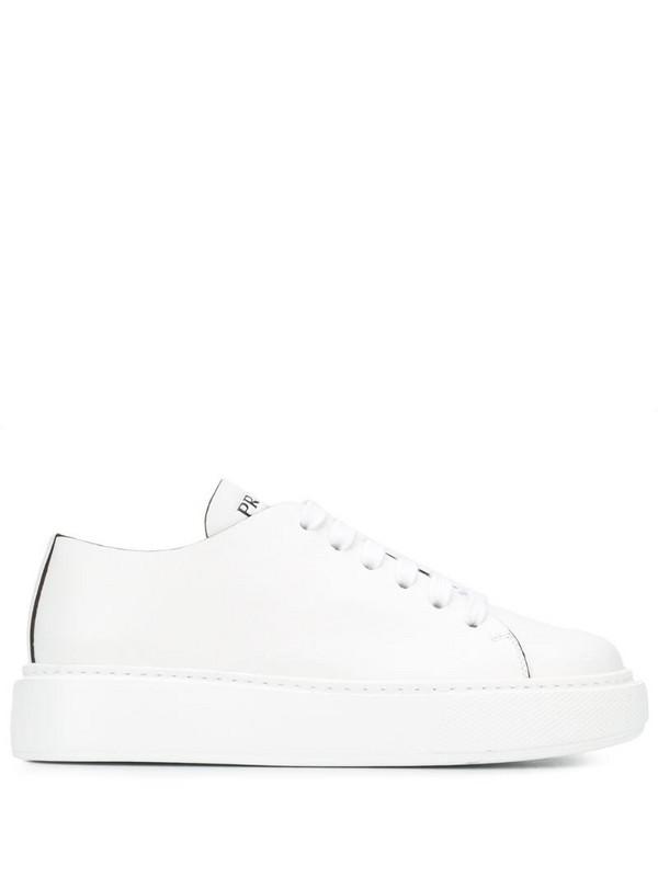 Prada low-top 45 platform sneakers in white