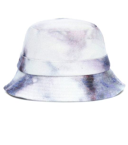 Isabel Marant Haley tie-dye cotton bucket hat in blue