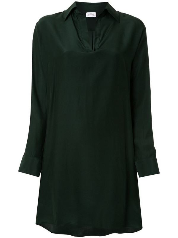 Pour Les Femmes asymmetric shirt dress in green