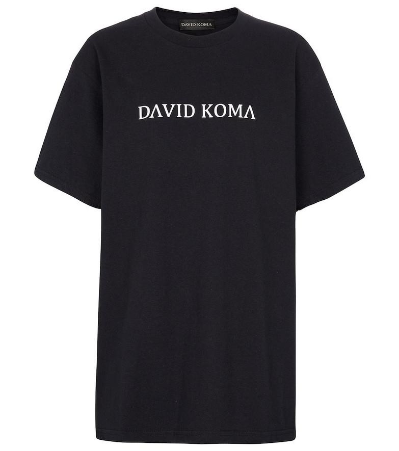 David Koma Logo cotton T-shirt in black