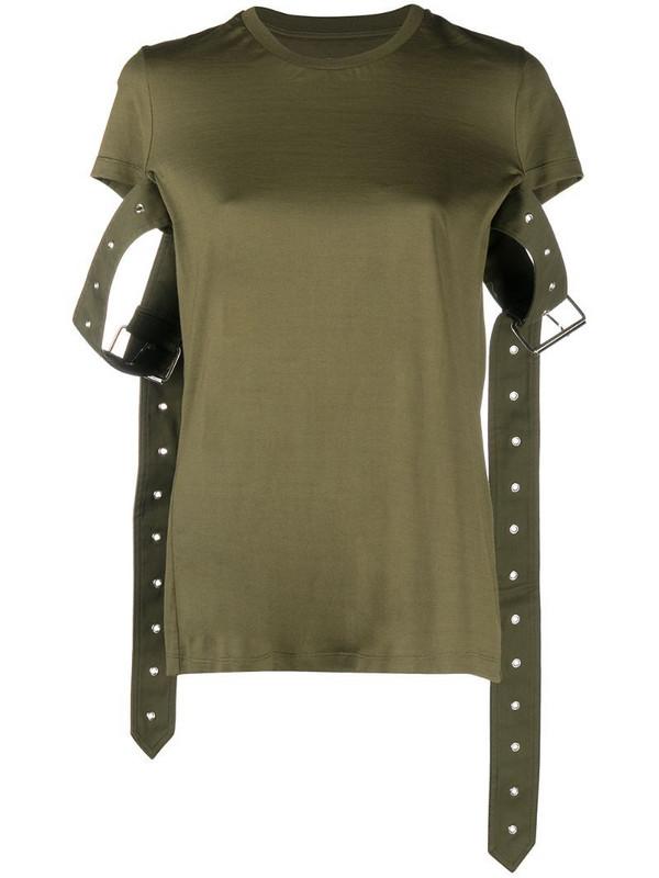 Marques'Almeida buckle-cuff T-shirt in green