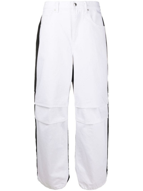 Alexander Wang contrast panel jeans in white