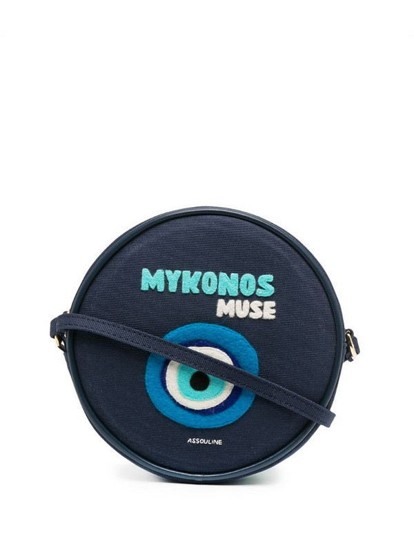 Olympia Le-Tan Mykonos round shoulder bag in blue