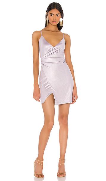 h:ours Maura Mini Dress in Purple
