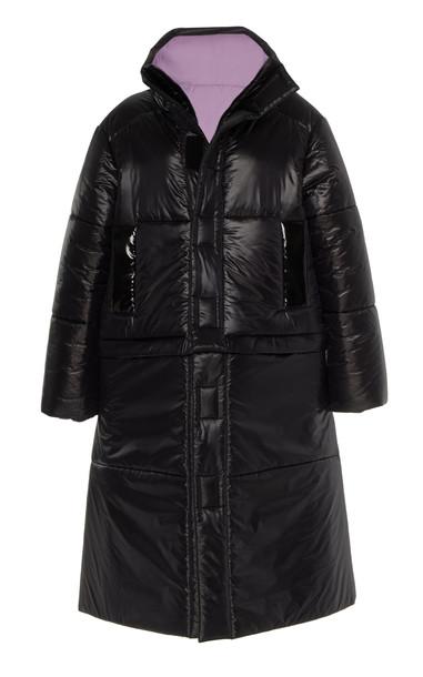 CAALO Reversible Convertible Down Coat in black