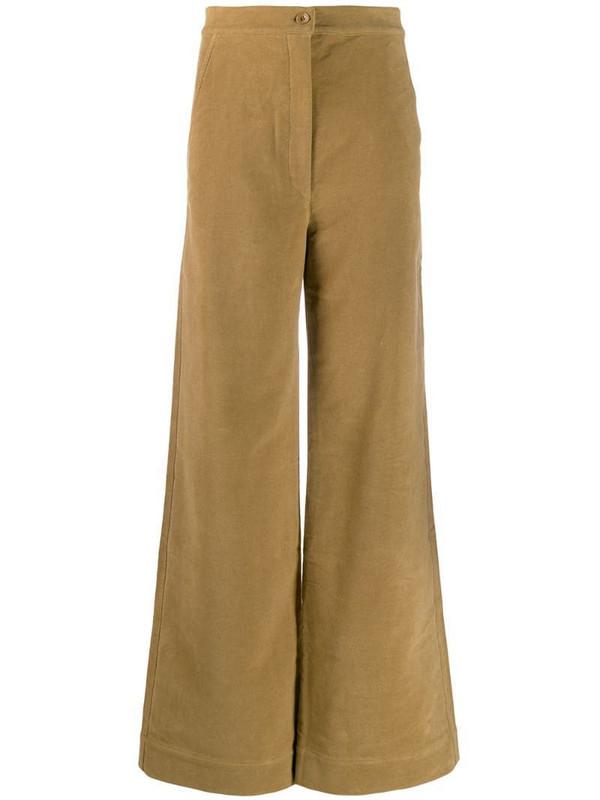 Katharine Hamnett London high rise palazzo trousers in brown