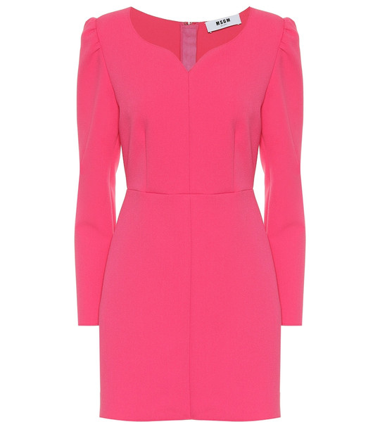 MSGM Crêpe minidress in pink
