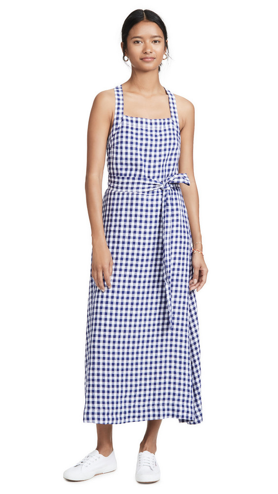AYR The Porch Dress in blue / white