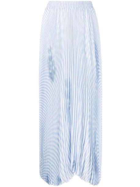Ermanno Scervino abstract-print pleated skirt in blue