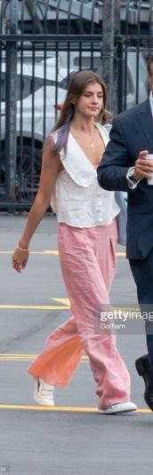 blouse,white,sleeveless,collared,jumpsuit