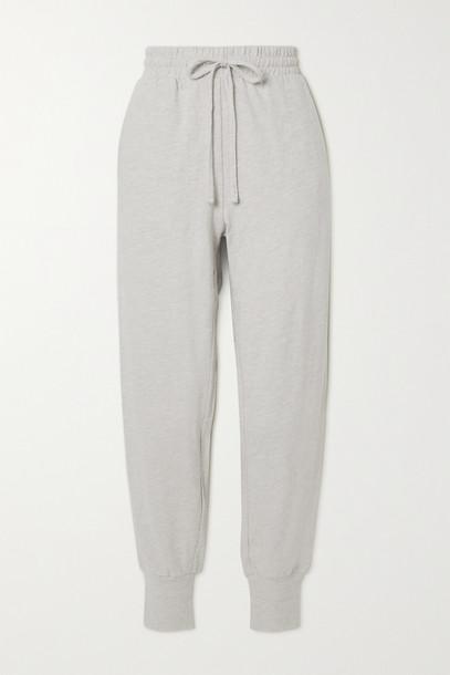 THE UPSIDE - Long Island Cotton-jersey Track Pants - Gray
