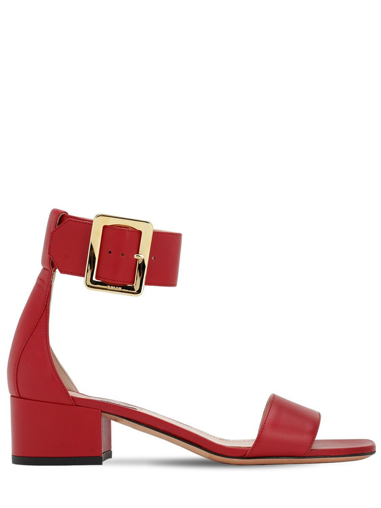 BALLY 40mm Janise Leather Sandals in red