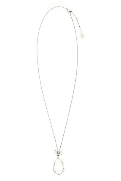 Alexander McQueen Spider Droplet Necklace in silver