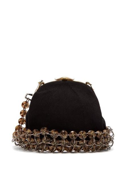 Stefan Cooke - Vintage Button Chainmail Cross Body Bag - Womens - Black