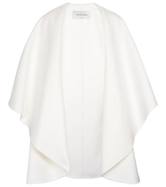 Valentino Wool and cashmere cape in white