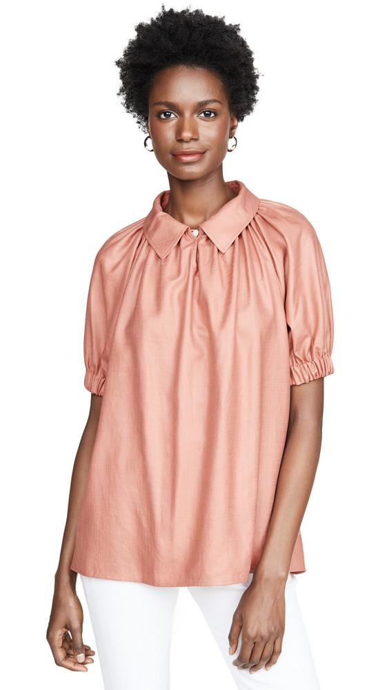 Adeam Balloon Shirt in peach