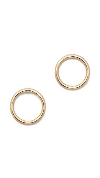 Ariel Gordon Jewelry Delicate Circle Silhouette Stud Earrings in gold