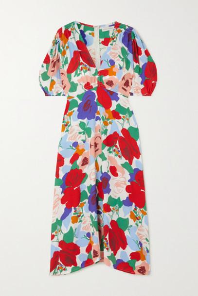 Faithfull The Brand - Vittoria Floral-print Crepe Midi Dress - Red
