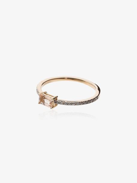 Mateo morganite and gold ring