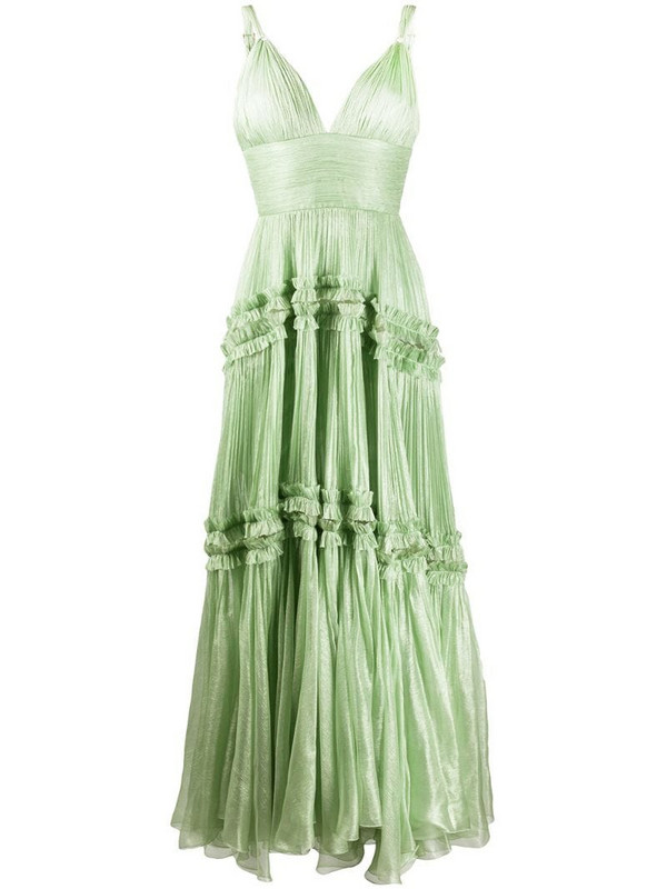 Maria Lucia Hohan pleated evening dress in green