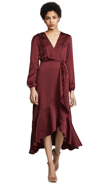 WAYF Barry Dress in burgundy