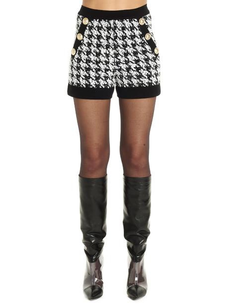 Balmain Short in black / white