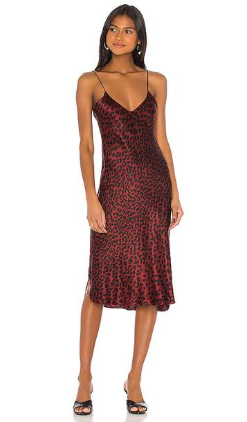 NILI LOTAN Short Cami Dress in Red