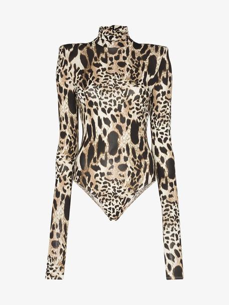 Alexandre Vauthier high-neck leopard-print bodysuit