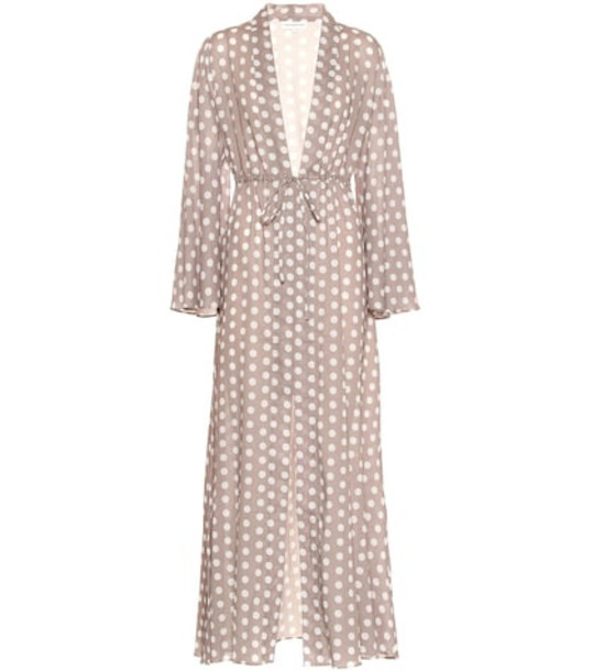Alexandra Miro Betty dotted cotton gown in grey